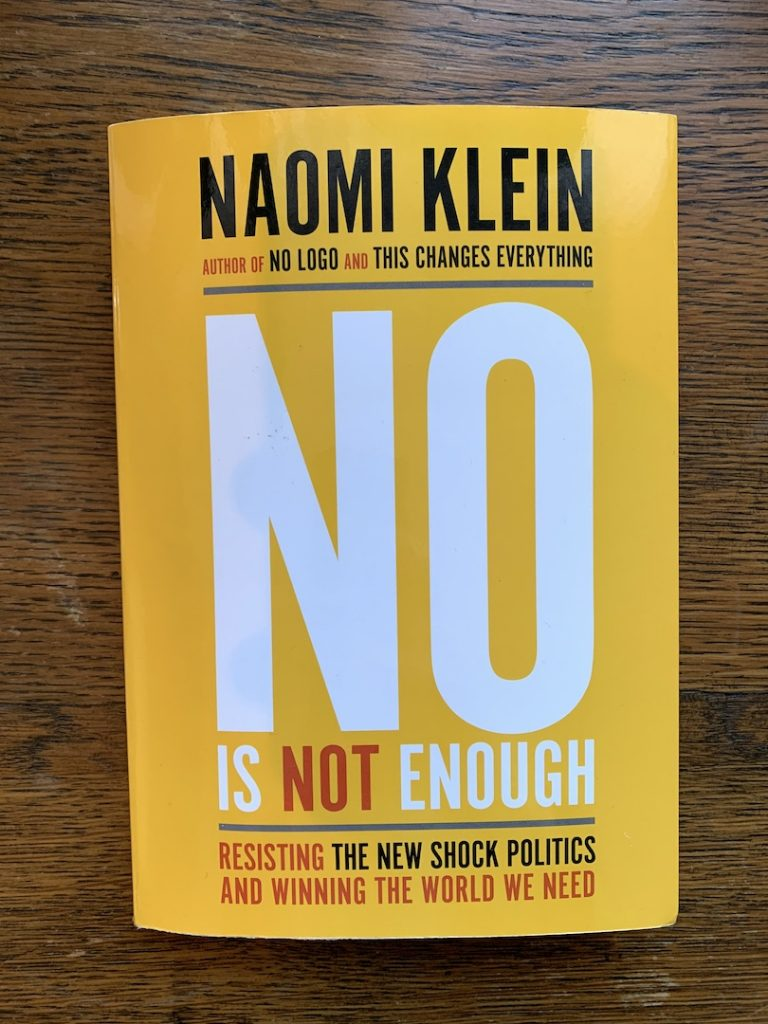 No is not enough by Naomi Klein